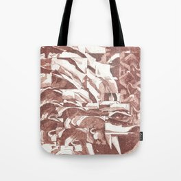 Fractured Flora Dusty Rose Tote Bag