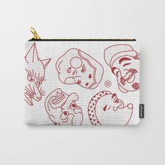 Japanese Masks Carry-All Pouch