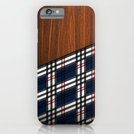 Wooden Scottish Tartan iPhone Case