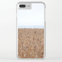 Reeds On A Foggy Autumn's Day Clear iPhone Case