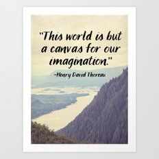The World is a Canvas Art Print