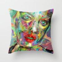 archan nair Throw Pillows featuring Ultraviolet Drops by Archan Nair