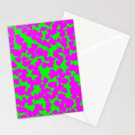 Purple Green Neon Animal Print Stationery Cards