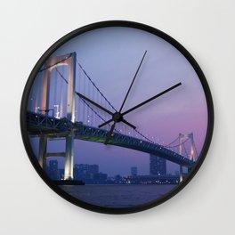 Tokyo Rainbow Bridge Wall Clock