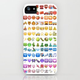 Emoji icons by colors iPhone Case