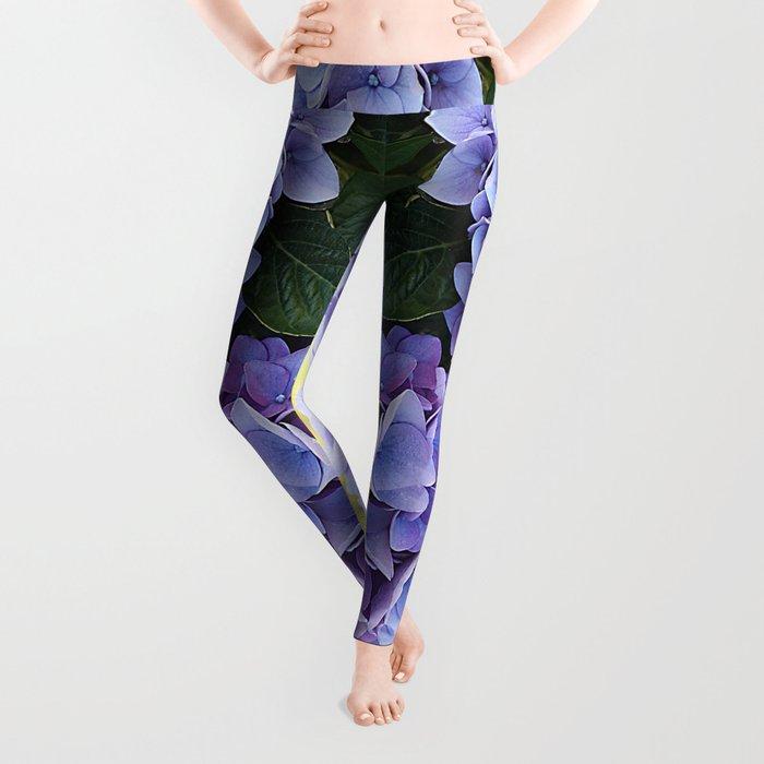 Purple hydrangea(1) Leggings