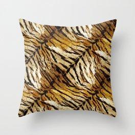 Tiger skin# tiger# striped# Throw Pillow