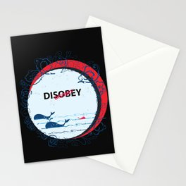 DIS Obey Whale Stationery Cards