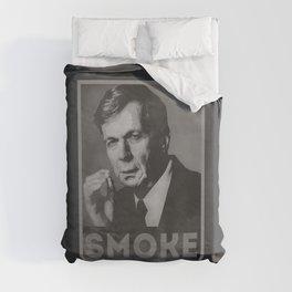 Smoke! Funny Obama Hope Parody (Smoking Man)  Duvet Cover