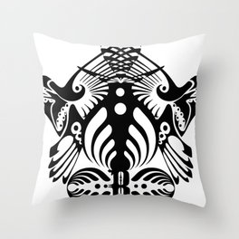 Bassnectar Family Crest Throw Pillow