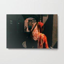 Indian woman, Italian market Metal Print
