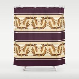 Moose Antler Crown Shower Curtain