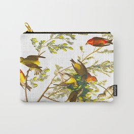 American Crossbill Vintage Bird Illustration Carry-All Pouch