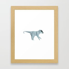 Origami Monkey Framed Art Print