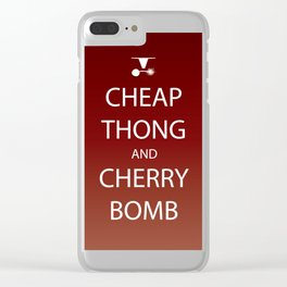 Cheap Thong and Cherry Bomb Clear iPhone Case