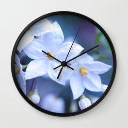 Jasmine Nightshade Flowers #3 #floral #art #society6 Wall Clock