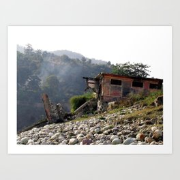 Tatapani, India Art Print