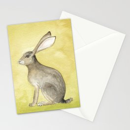 Goldenrod Hare Stationery Cards