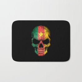 Dark Skull with Flag of Cameroon Bath Mat