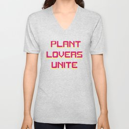 Plant Lovers Unite Retro Tee Unisex V-Neck