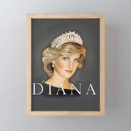 PRINCESS DIANA Framed Mini Art Print