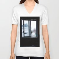 window V-neck T-shirts featuring Window by RMK Photography