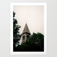 Church Within The Trees Art Print