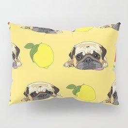 Pug dog. When life gives you lemons, eat more watermelon!   Pillow Sham