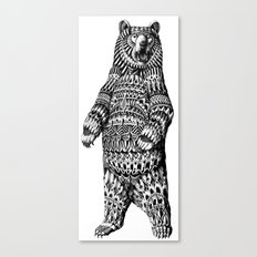 Ornate Grizzly Bear Canvas Print