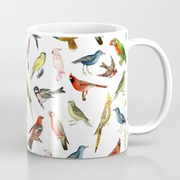 Modern whimsical colorful brazilian tropical birds Coffee Mug