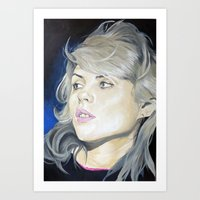 blondie Art Prints featuring Blondie by karen bones