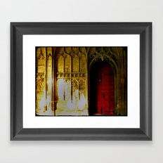 Red Door No. 2 Framed Art Print