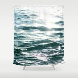 Crystal Sea // Horizontal Shower Curtain