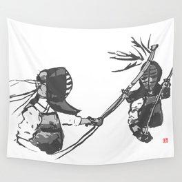 Naginata Sumi-E by Takemi Wall Tapestry