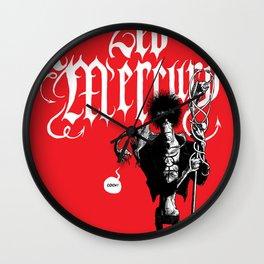Zed Mercury RED print Wall Clock