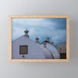 Dairy Barns at Creamers Field, Fairbanks Alaska Framed Mini Art Print