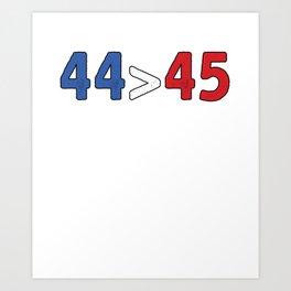 44 Turning 45 Art Print