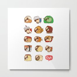 Puglie Food Collection 1 Metal Print