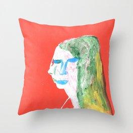 Helga in profile in full face Throw Pillow