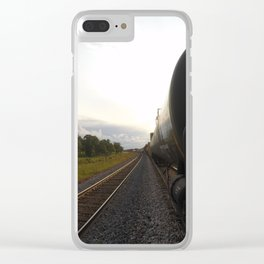 Chasing Freedom Clear iPhone Case