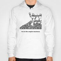 walter white Hoodies featuring Walter White by christoph_loves_drawing