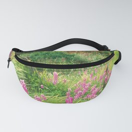 Purple Pink Wild Flowers By Cottage, Papua New Guinea Fanny Pack