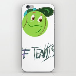 Tennis ball smiley iPhone Skin