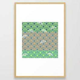Catch the Seigaiha 2 (Green) Framed Art Print