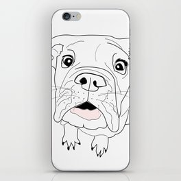 If dogs could speak - Bulldog iPhone Skin