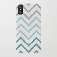 THIN TEAL CHEVRON FADE  Slim Case iPhone X