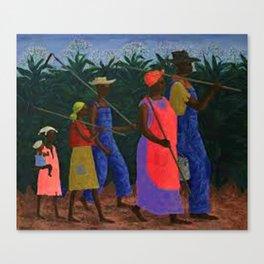 American American Masterpiece 'Field Workers' by Ellis Wilson Canvas Print