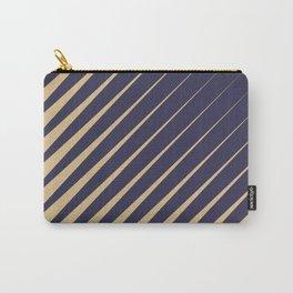 Diagonal Stripes Purple Peach Carry-All Pouch