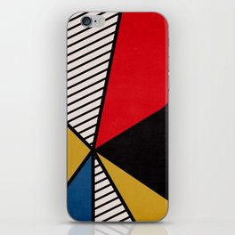 Primary Colors and Stripes iPhone Skin