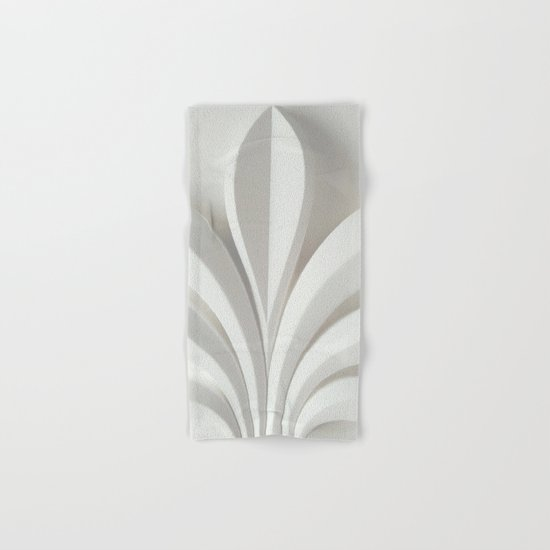 White sculpture Hand & Bath Towel